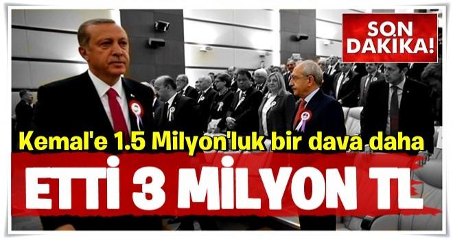 Cumhurbaşkanı ve yakınlarından Kılıçdaroğlu'na 1,5 milyon liralık yeni dava!