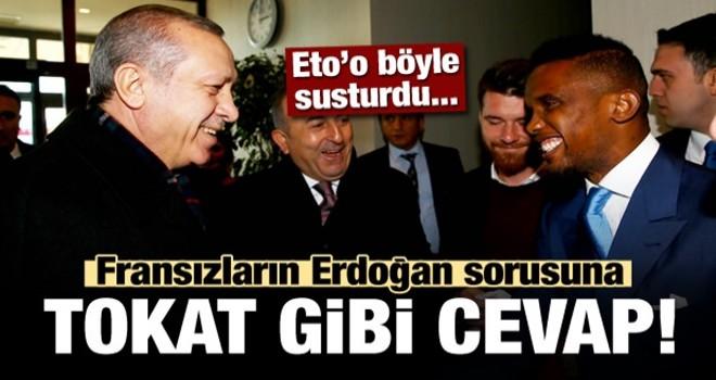 Eto'o'dan Fransızlara tokat gibi Erdoğan yanıtı!