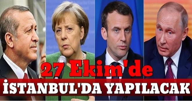 İbrahim Kalın: ''4'lü zirve 27 Ekim'de İstanbul'da yapılacak''