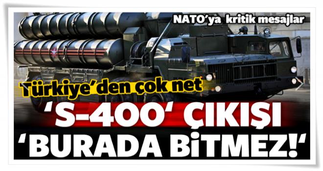 Erdoğan'ın Başdanışmanı'ndan kritik 'S-400' çıkışı