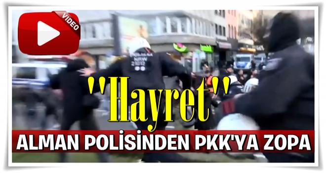 Alman polisinin PKK'lılara sert müdahalesi