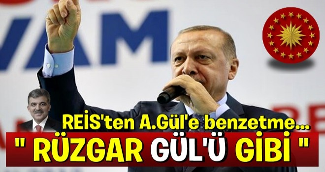 Erdoğan'dan, Abdullah Gül'e çok ağır benzetme...