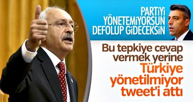 Partisini yönetemeyen Kılıçdaroğlu hükümeti eleştirdi