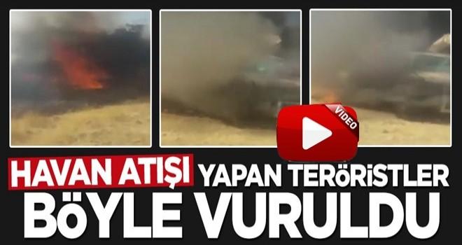 Havan atışı yapan teröristler böyle vuruldu