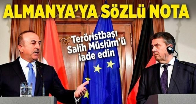 Dışişleri Bakanı Çavuşoğlu'ndan Almanya açıklaması .
