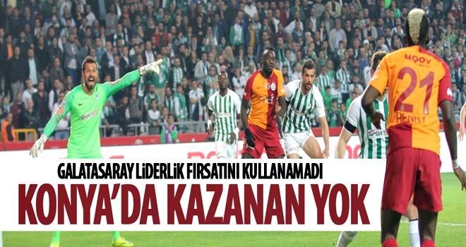 Zirve yarışında Galatasaray'a Atiker Konyaspor çelmesi