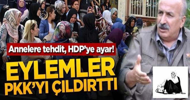 Annelere tehdit, HDP'ye ayar! Eylemler PKK'yı çıldırttı