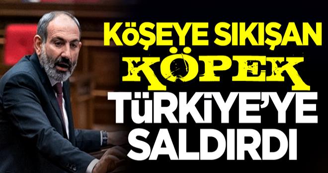 Köşeye sıkışan Paşinyan, Türkiye'ye saldırdı