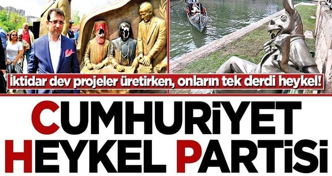 İktidar dev projeler üretirken, onların tek derdi heykel! Cumhuriyet Heykel Partisi