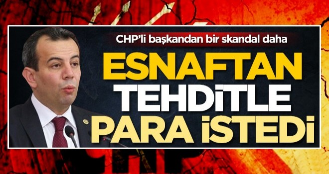"""Bolu'nun CHP'li başkanından bir skandal daha! """"Eğer para vermezseniz..."""""""