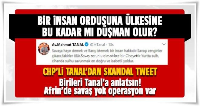 Mahmut Tanal'dan skandal tweet