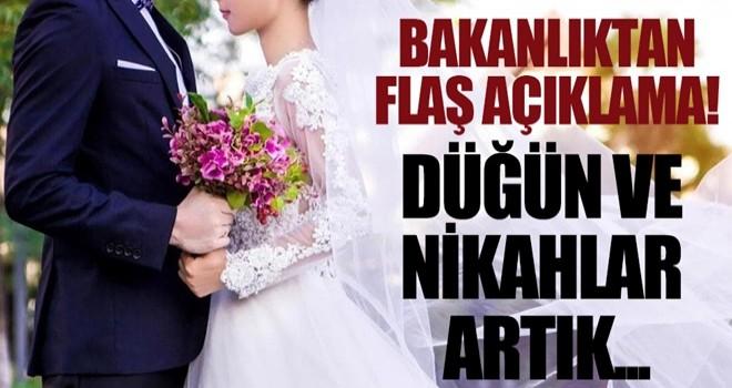 İçişleri Bakanlığı'ndan düğünlere ilişkin yeni karar!