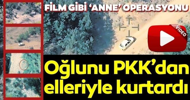 Oğlunu PKK'dan elleriyle kurtardı! .