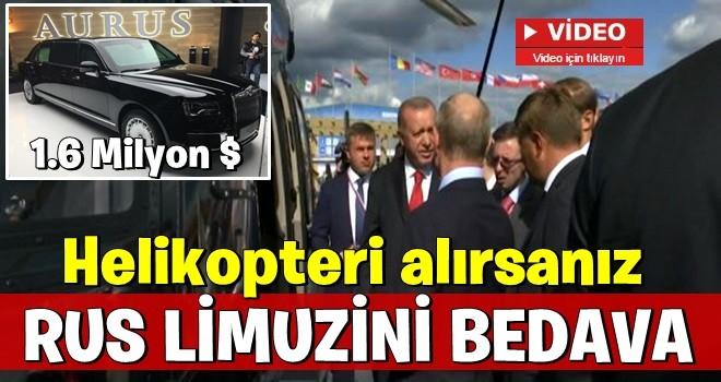 Başkan Erdoğan ile Putin arasında helikopter pazarlığı