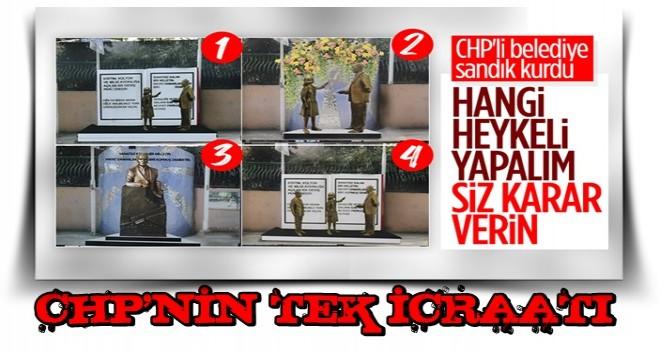 TEK BİLDİKLERİ..CHP'li İzmit Belediyesi dikeceği heykeli halk oylamasına sundu