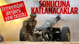 Azerbaycan Ermenistan arasında insani ateşkes başlar başlamaz ihlal edildi!