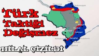 Azerbaycan ordusu, Hilal Taktiği'ni kullanarak ilerliyor