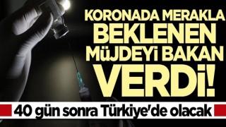 Bakan müjdeyi verdi... 40 gün sonra Türkiye'de olacak