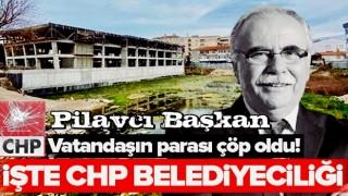 Çanakkale'nin CHP'li Belediye Başkanı Ülgür Gökhan milyonluk projeleri kaderine terk etti .