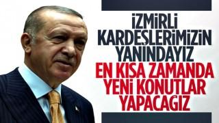 Cumhurbaşkanı Erdoğan: İzmirli kardeşlerimizin yanındayız