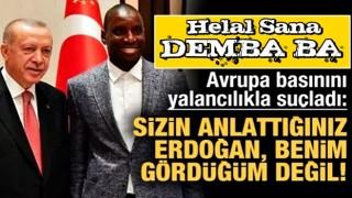 Demba Ba'dan Fransızlar'a flaş Erdoğan cevabı!