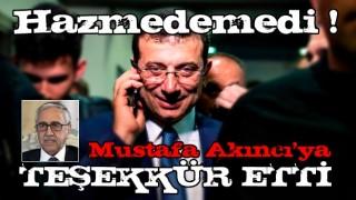 ekrem'den Mustafa Akıncı mesajı!
