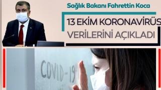 Fahrettin Koca 13 Ekim koronavirüs hasta ve vefat sayılarını açıkladı! Türkiye'de corona virüs son durum tablosu!