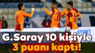 Galatasaray 10 kişiyle 3 puanı kaptı! BB Erzurumspor 1-2 Galatasaray
