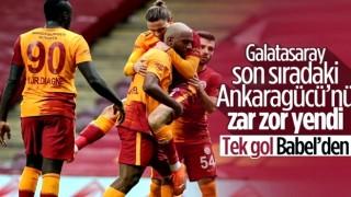 Galatasaray'ın Babel'in golüyle Ankaragücü'nü yendi