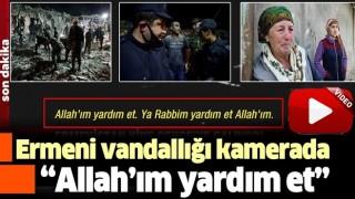 İşgalci Ermenistan'ın Gence'yi vurduğu anlar kamerada