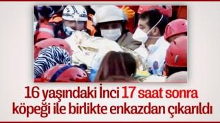 İzmir'de 16 yaşındaki İnci ve köpeği kurtarıldı