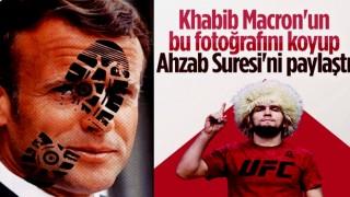 Khabib Nurmagomedov'dan Macron paylaşımı