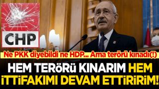 Kılıçdaroğlu'ndan içinde PKK-HDP adı geçmeyen terör kınaması!