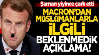 Macron 'boykot'u yiyince çark etti: Müslümanlar bizim parçamız