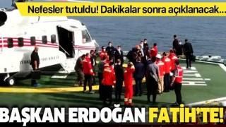 Son dakika: Başkan Erdoğan yeni doğal gaz rezervini açıklamak üzere Fatih gemisinde