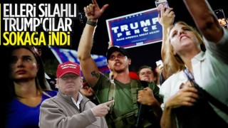 ABD'de Trump destekçileri silahlarla seçim merkezi önünde bekledi