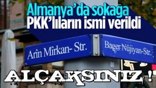 Almanya'da sokağa PKK'lıların ismi verildi