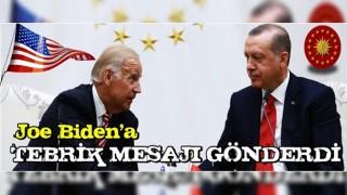 Başkan Erdoğan, ABD'de başkanlık seçimini kazanan Joe Biden'a tebrik mesajı gönderdi