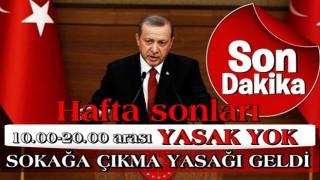 Başkan Erdoğan alınan yeni tedbirleri açıkladı: Haftasonu o saatler arasında sokağa çıkma yasağı geldi .