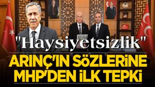 Bülent Arınç'ın sözlerine MHP'den ilk tepki