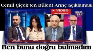 Cemil Çiçek'ten Bülent Arınç açıklaması: Doğru değil