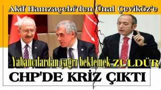 CHP Milletvekili Mehmet Akif Hamzaçebi'den CHP'li Ünal Çeviköz'e sert sözler: Yabancılardan çağrı beklemek züldür