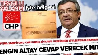 CHP'li Engin Altay'ın yalanı ortaya çıktı! Kılıçdaroğlu ve Akşener KKTC'ye çağrılmış .