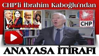 CHP'li İbrahim Kaboğlu'dan 4 partiyle anayasa çalışması açıklaması