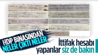 Diyarbakır'da HDP binasında bulunan ajandadan teröristlerin bilgileri çıktı