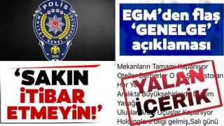 EGM'den 'Genelge' açıklaması