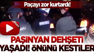 Ermeniler Paşinyan'ın önünü kesti! Polisler zor kurtardı