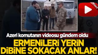 Ermenileri yerin dibine sokacak anlar! Azerbaycanlı komutandan dünyaya insanlık dersi