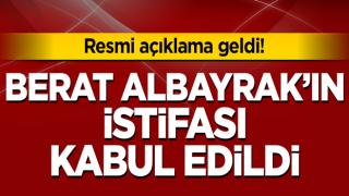 Hazine ve Maliye Bakanı Berat Albayrak'ın istifa talebi kabul edildi