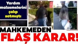 İzmir'de depremzedelerin malzemelerini alıp büfede satıyordu! Tutuklandı!